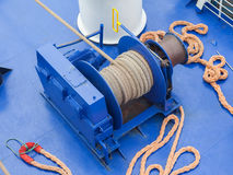 Anchor winches. On a large modern ship Royalty Free Stock Photography