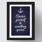 Anchor yourself to something special. Stock Photo