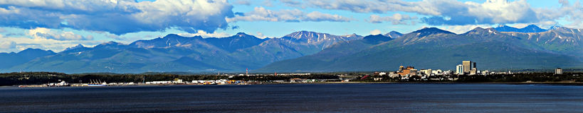 Anchorage. Panoramic view of Anchorage, Alaska stock images