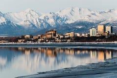 Ciudad de Anchorage Fotografía de archivo libre de regalías