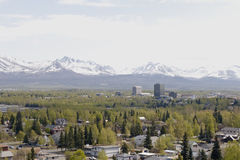 Anchorage city Royalty Free Stock Image