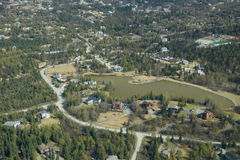 Anchorage city. Aerial view of Anchorage city suburbs, Alaska, U.S.A Stock Photos