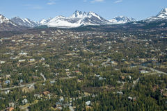 Anchorage city Royalty Free Stock Images