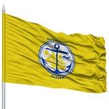 Anchorage City Flag on Flagpole, USA Stock Photo