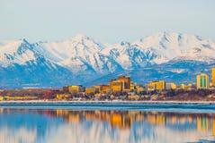 Ciudad de Anchorage Fotos de archivo