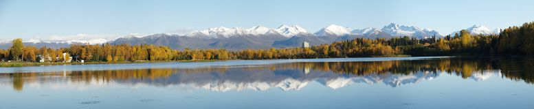 Anchorage coastline Royalty Free Stock Photos
