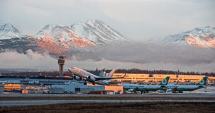Anchorage International Airport Royalty Free Stock Photo