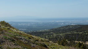 Anchorage and Mount Susitna Royalty Free Stock Photos