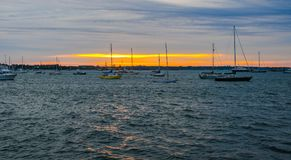 Anchorage op Narragansett-Baai stock fotografie