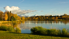 Anchorage's Westchester Lagoon Royalty Free Stock Photography