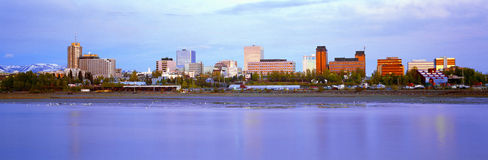 Anchorage Skyline Stock Photography