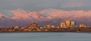 Anchorage at sunset Royalty Free Stock Photography