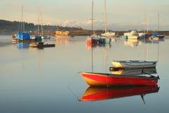 Anchorage tranquila, río de Nicomekl, Columbia Británica Foto de archivo