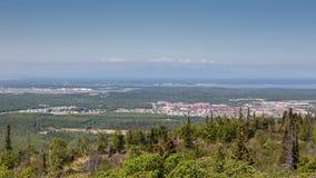 Anchorage und Berg Susitna Stockfoto