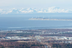 Anchorage view from height Royalty Free Stock Images