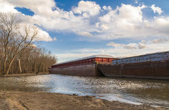 Anchored Barge. Stock Photography