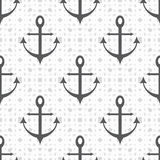 Anchored on a beautiful bright background seamless pattern vector illustration Stock Image