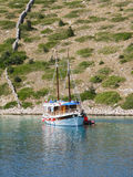 Anchored boat Stock Image