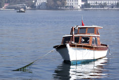 Anchored boat - RAW format Royalty Free Stock Photography
