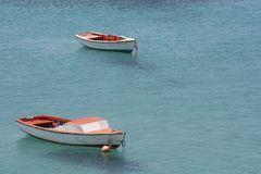 Anchored boats Royalty Free Stock Photos