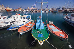 Anchored boats Stock Image