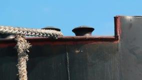 Anchored cargo ship stock video