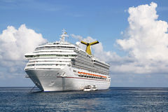 Anchored Cruise Ship Royalty Free Stock Photos