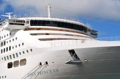 Anchored cruise ship Stock Photos