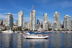 Anchored in False Creek Stock Photography