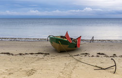 Anchored fishing boat Royalty Free Stock Photography