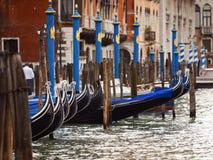Anchored gondolas in Venice Royalty Free Stock Photos
