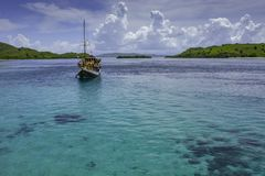 Anchored For Lunch royalty free stock images