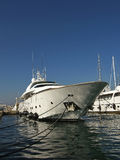 Anchored luxury yacht royalty free stock images