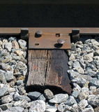 Anchored Railroad Track and Tie. Stock Image