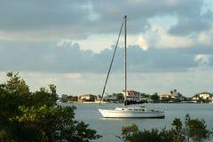 Anchored Sailboat Royalty Free Stock Photo