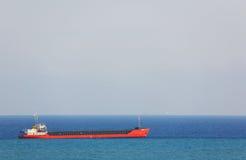 Anchored ship Stock Photos