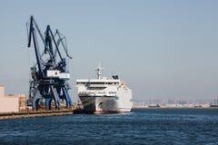 Anchored ship in port of Dalian Stock Photos