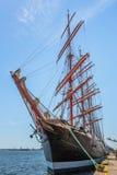 Anchored tall ship Royalty Free Stock Photos