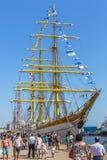 Anchored tall ship Royalty Free Stock Image