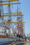 Anchored tall ship Royalty Free Stock Photos