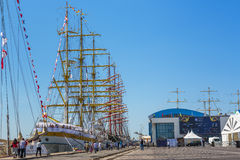 Anchored tall ships Royalty Free Stock Photography