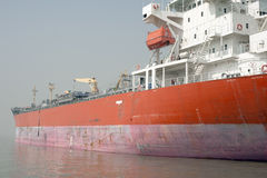 Anchored tanker Stock Photos