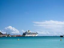 Anchored transatlantic ship Stock Photos