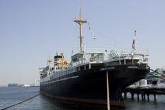 Anchored vessel. Yokohama harbor Japan stock image