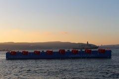 Battle ship in Çanakkale Royalty Free Stock Image