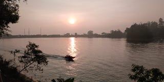 Sunrise at Sarangan stock photography
