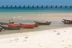 Anchored wooden fishing boats. On weizhou island Royalty Free Stock Image