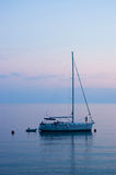 Anchored yacht Royalty Free Stock Photography