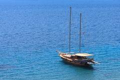 Anchored yacht Stock Images