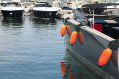 Anchored yachts in St. Tropez Royalty Free Stock Photos